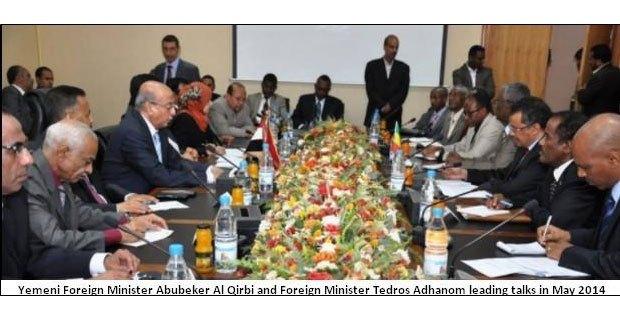 Yemeni foreign minister and Tedros Adhanom