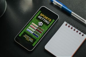smartphone with a sports betting app
